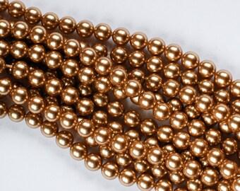 4 mm BRIGHT GOLD SWAROVSKI Round Pearls 5810