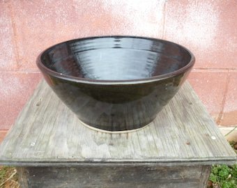 Black Porcelain Vessel Sink, Bathroom Sink, Kitchen Sink