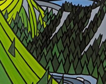 Beartrap Canyon 8x10 giclee print