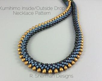 PDF Kumihimo Pattern - Kumihimo Inside/Outside Drop Necklace, Kumihimo Tutorial