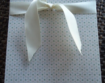 THE POLKA DOTTIE - Textured Premium Handmade Stationary Set- Includes 8 Cards with Envelopes.