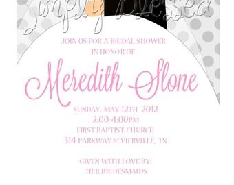 Simply Stunning Bridal Shower Invitation - DIY By: SimplyBlessedDesign
