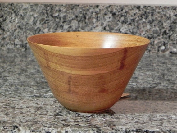 Items similar to hand turned wooden bowl wood