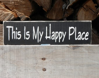 This is My Happy Place wood sign country wall decor,cabin decor