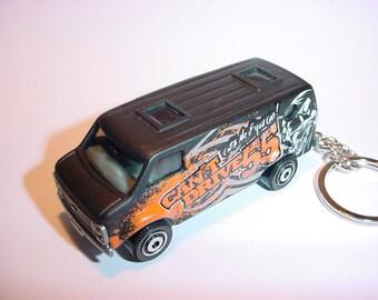 3D 1977 Chevrolet G20 Van cant drive 55 custom keychain by Brian Thornton keyring key chain finished in black truck trim
