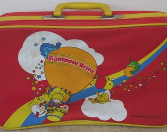 Vintage Rainbow Bright Luggage Suitcase (Red)