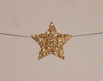 Shimmery Gold Glitter Star Seals - Gold Star Envelope Seals