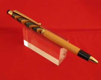 Handmade stylus pen w/ laminated wood from India. Perfect for any phone/tablet/iPad. Makes a great unique gift SpecialtyTurned
