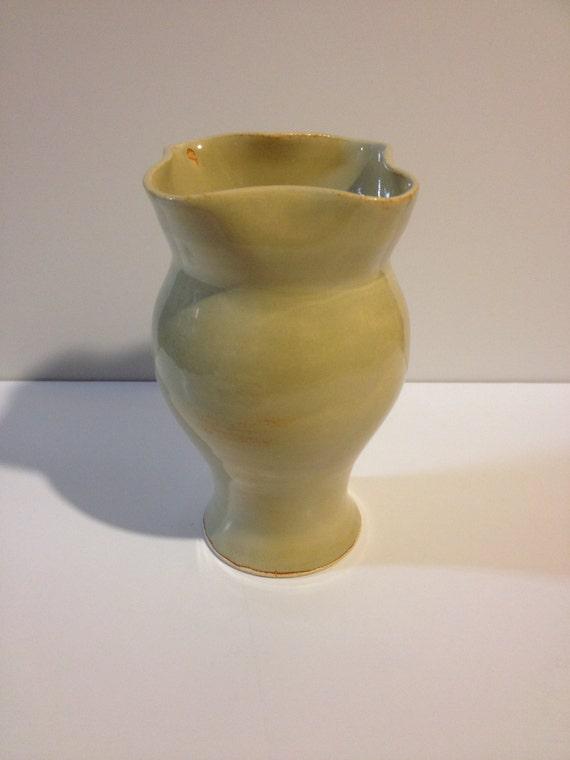 """Sculpted Ceramic Vase 7 1/2"""" tall"""