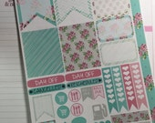 Vintage pattern sticker set for Erin Condren Life Planner, Plum Paper Planner, Filofax