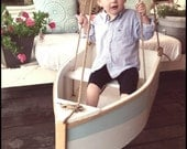 Boat swing, tree swing, porch swing, wood boat, toy boat, rope swing, photographry prop