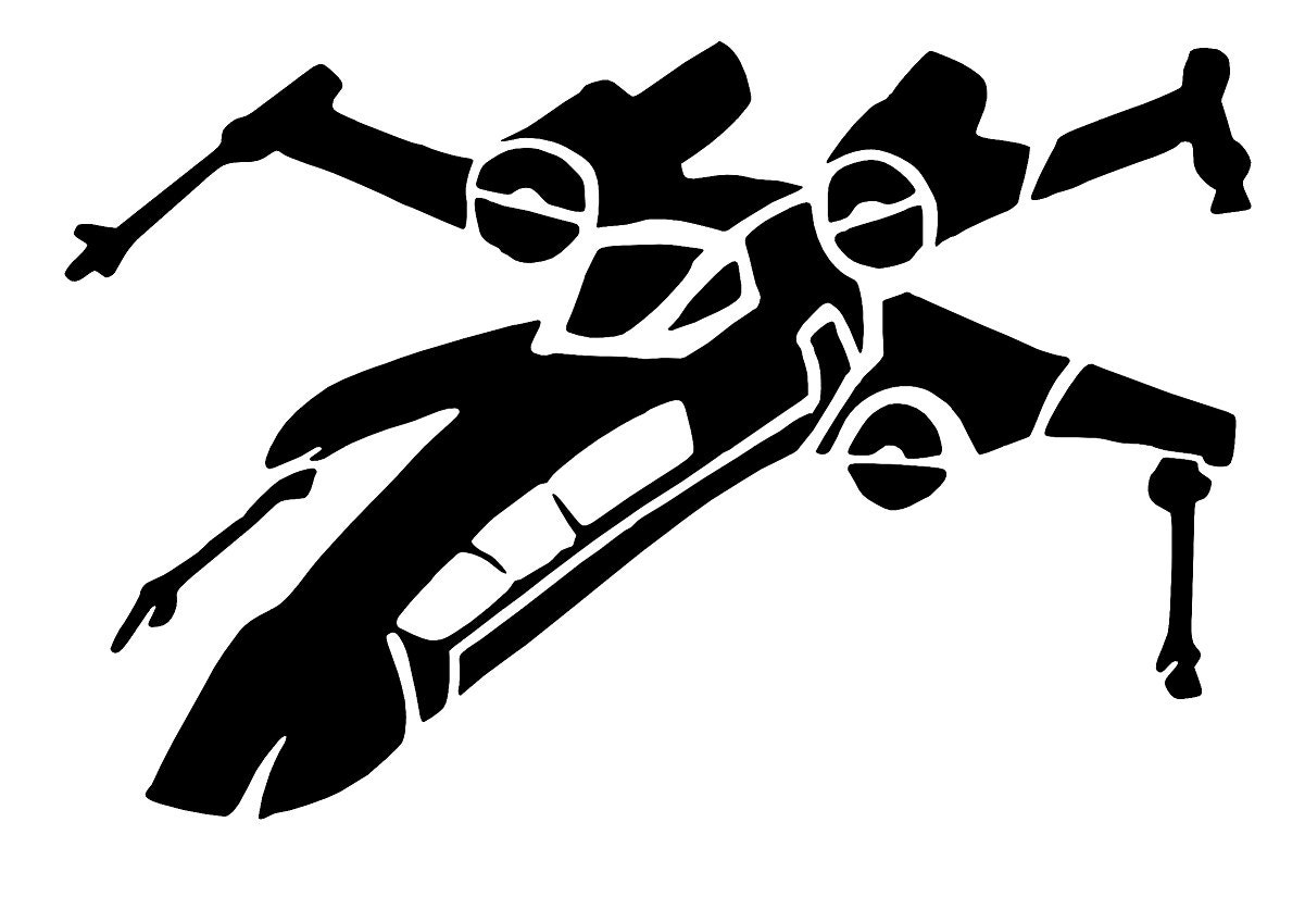 x wing sticker vinyl decals star wars spaceship car window