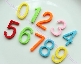 Felt Numbers 32mm Height non-woven fabric NumberZero to Nine Mix Pack for home/school classroom DIY FZ0082--100pcs