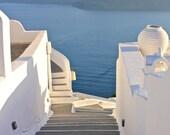 Santorini Staircase | Greece Photography