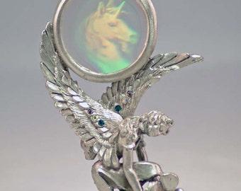 Fairys Unicorn Hologram Pewter Collectible 4499