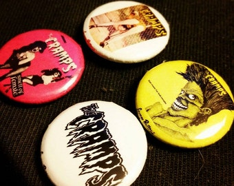 The Cramps 1 inch Pins set of 4