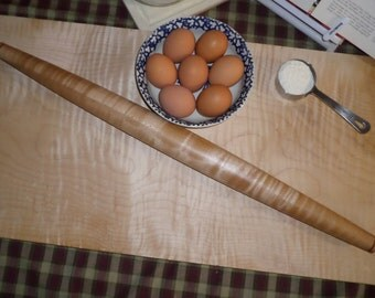 French rolling pin, wood rolling pin, dough rolling pin, long rolling pin, Wood, hand made, wooden, fondant, crust, bread, biscuit, french