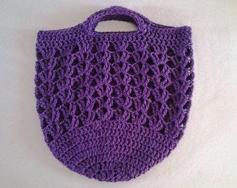 Crochet Market Bag - Hobo Style