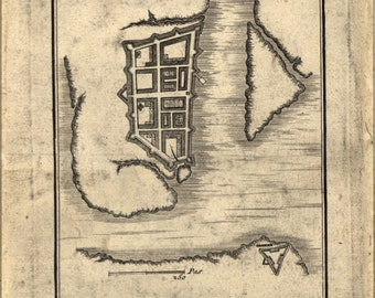 24x36 Poster; Map Of Charleston South Carolina 1780 (Check Other)