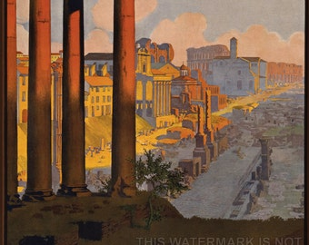 24x36 Poster; Rome Travel Poster - Copy