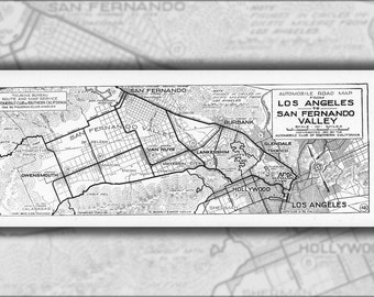 24x36 Poster; Automobile Road Map From Los Angeles To San Fernando Valley, 1917 (Aaa-Sm-000310)