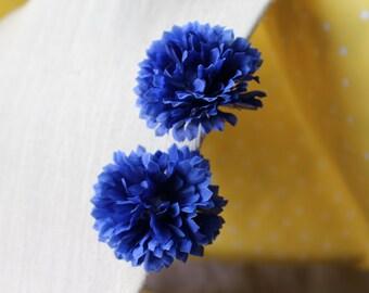 Small Blue Flowers Hair Clip