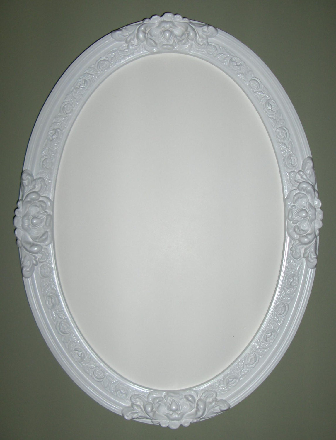 framed oval bathroom mirror white frame oval mirror bathroom mirror vanity by wallaccents 18395 | il fullxfull.695852048 qwfr