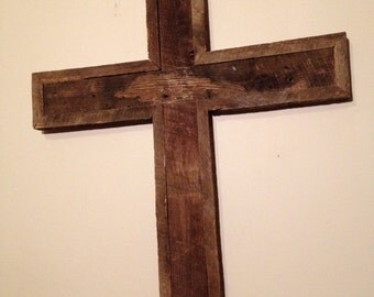 Large Reclaimed Oak Cross