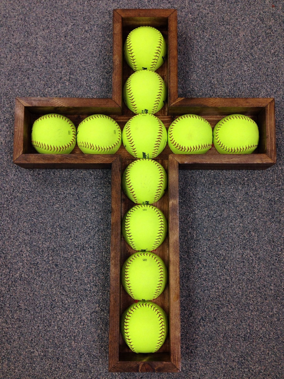 Softball Bedroom Baseball Shelf Etsy