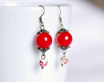 Hawthorn flower - Earrings