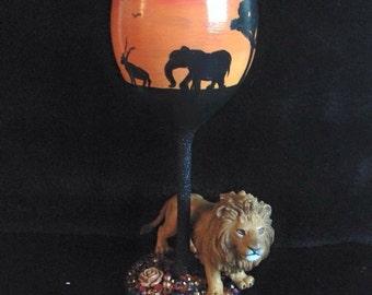 Safari character glass