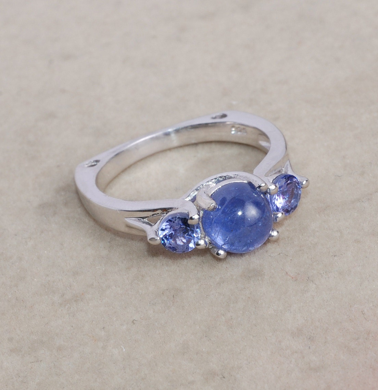 Beautiful Tanzanite: Beautiful Tanzanite Ring / Blue Ring / By Silverjewelry2015