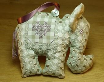 Baby Elephant Sewing Kit - Homemade Personalised Gift or Keepsake - DIY Sewing Kit - Baby Present