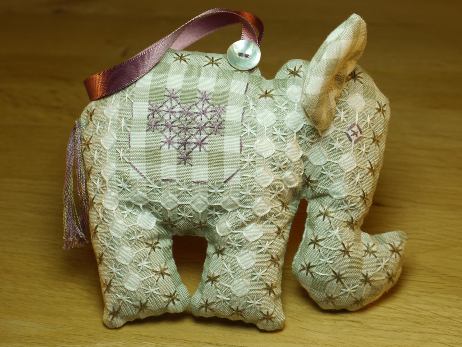 Homemade Baby Gifts Uk : Baby elephant sewing kit homemade personalised gift or