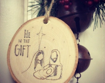 He is the gift-- nativity scene
