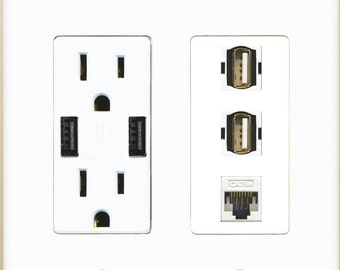 riteav gfci 15 amp 125v power outlet with hdmi coax by riteav