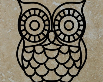 "Set of 4 ""Owl"" Coasters.  Free Shipping"