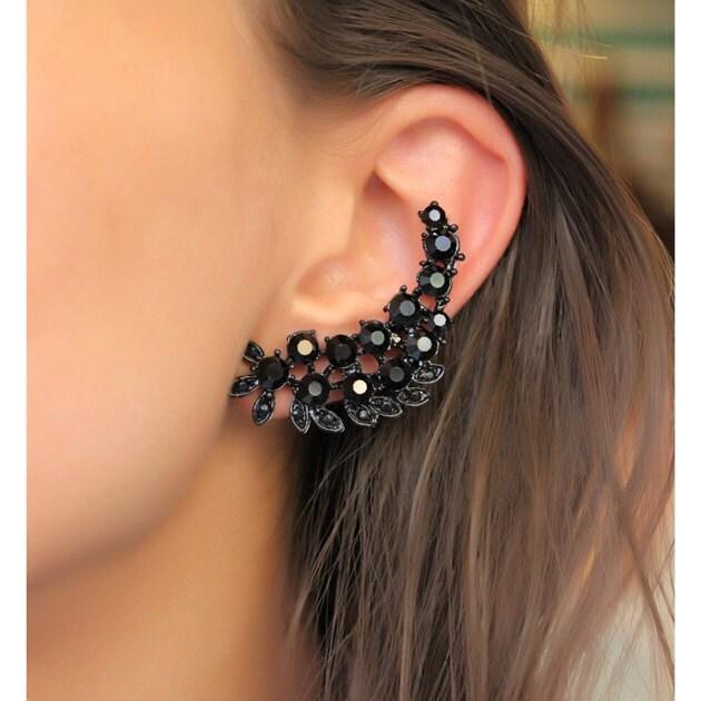 cartilage earring black stud earring black unique by