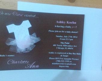 Tutu Baby Shower Invite