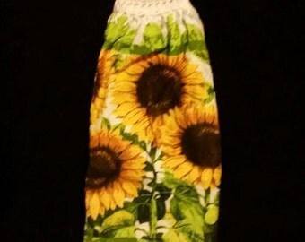 Single Crochet Top Towel Sunflowers