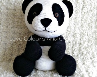 XL Panda Amigurumi Stuffed Animal Toy Crochet