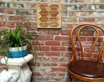 Reclaimed Wood Lath Wall Art