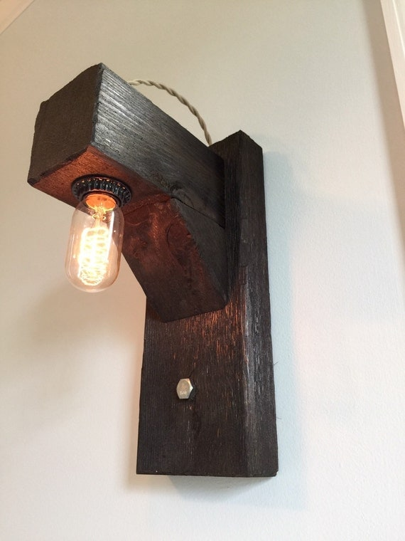 Rustic Hangman style wall sconce with by HandCraftedLighting