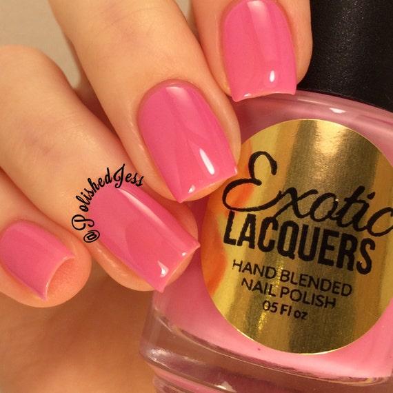 ON SALE Petal Pusher Pastel Pink Creme Nail Polish Quick Dry