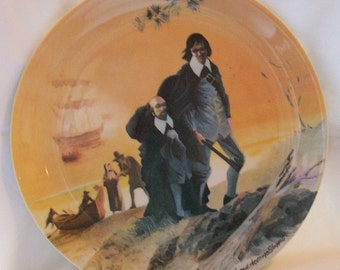 1972 A New Dawn American Historical Plate by Arthur Hastings Sloggett #989 of 7600 Limited Edition Collectible Plate