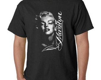 Marilyn Monroe T-Shirt Portrait Rose Profile Tee All Sizes & Colors (498)