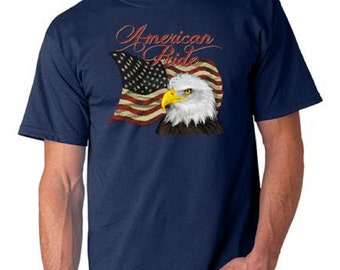 American Pride Eagle And American Flag T-Shirt Rude All Sizes & Colors (667)