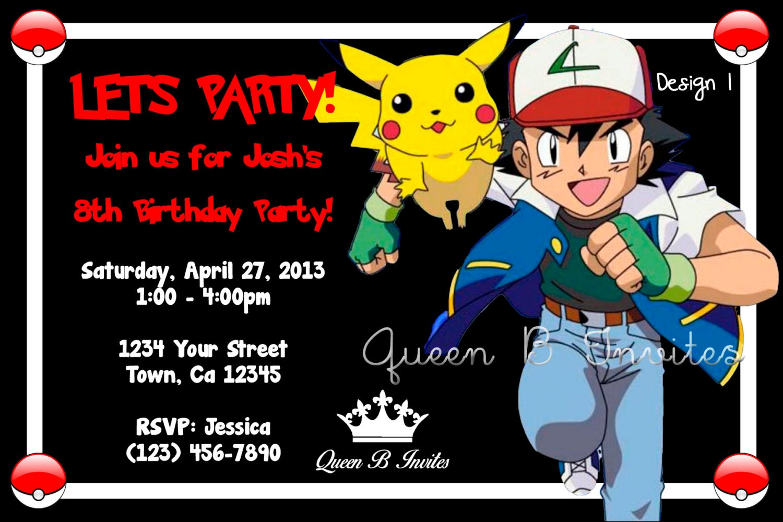 Free Pokemon Birthday Invitations is luxury invitations sample