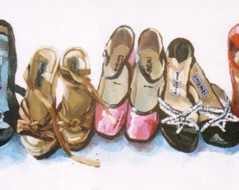 Original Jenny Grumbles Custom Shoes Painting
