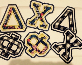 4 Inch Iron On Double Stitched Letters